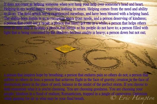 Good Sign Beach - Helping
