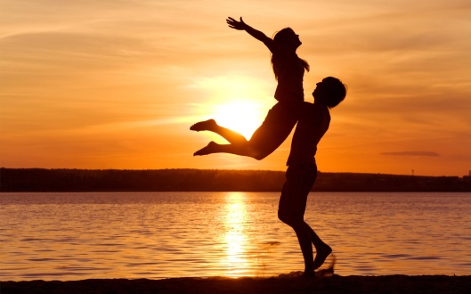 love-man-woman-silhouette-sun-sunset-sea-lake-beach