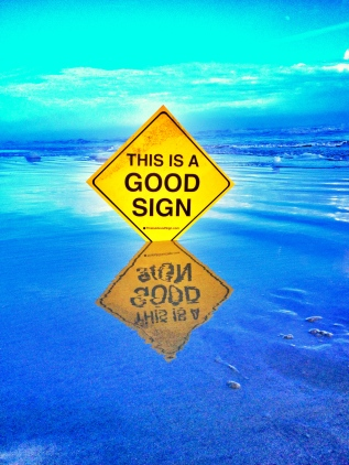 HHI Good Sign Reflection Ocean
