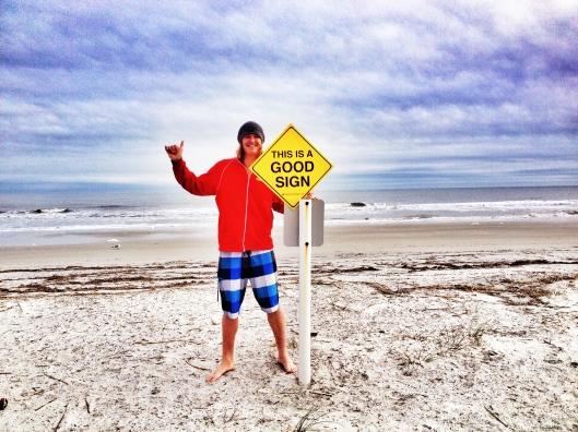 KAL Hilton Head Beach Good Sign
