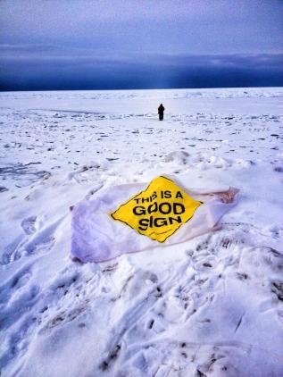 Traverse Bay Frozen Good Sign