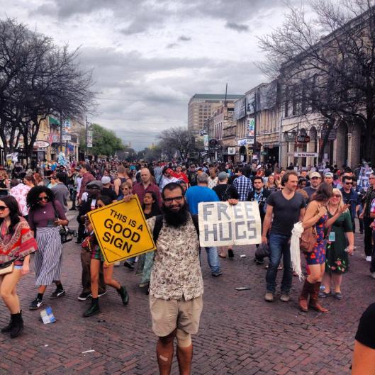 Good sign SXSW Free Hugs