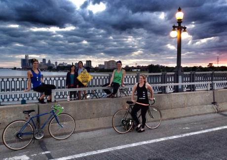 Bikes and Yoga Good Sign